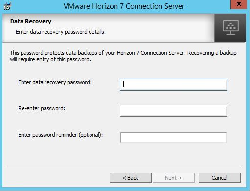 Installing and configuring VMWare Horizon View Connection Server on